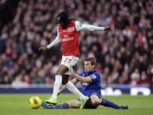 Gervinho and Seamus Coleman