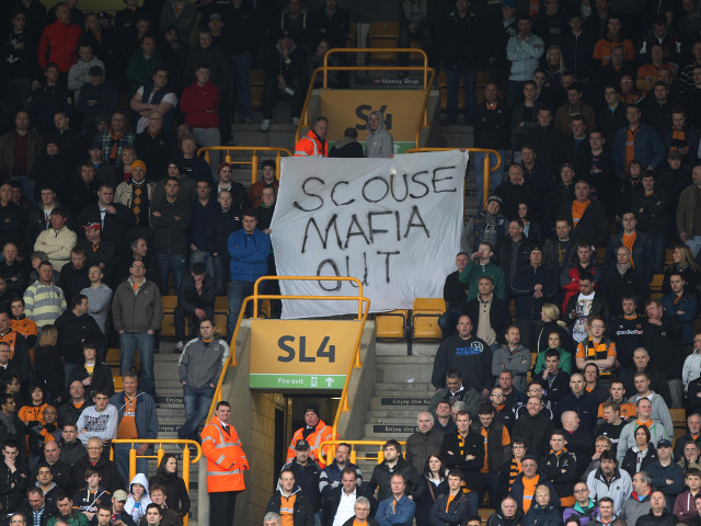 Wolves protest sign