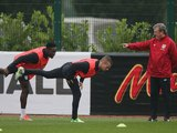 Danny Welbeck Tom Cleverley and Roy Hodgson