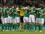 Ireland team facing Germany