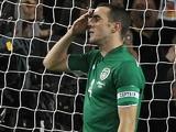 A dejected John O'Shea