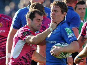 Leinster's Eoin Reddan and Exeter Chiefs' Haydn Thomas