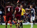 James Milner sees red for Man City