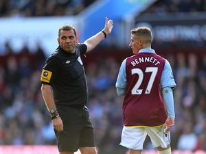Joe Bennett sees red for Aston Villa
