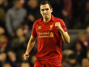 Stewart Downing celebrates scoring for Liverpool