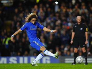 David Luiz scores Chelsea's first from the penalty spot