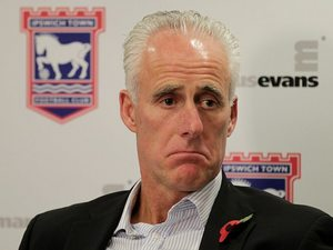 New Ipswich manager Mick McCarthy sporting the