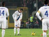 Inter's Antonio Cassano looks downbeat