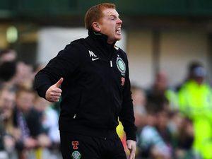 Celtic boss Neil Lennon shouts from the touchline