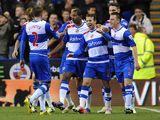 Adam Le Fondre celebrates scoring for Reading on November 17, 2012