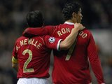 Gary Neville and Cristiano Ronaldo celebrate a Manchester United goal