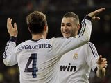 Real Madrid's Sergio Ramos and Karim Benzema celebrate on November 17, 2012
