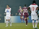 Braga's Custodio reacts to a goal by CFR Cluj on November 20, 2012