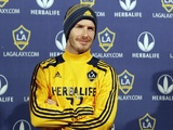 David Beckham meets the press after announcing his decision to leave LA Galaxy on November 20, 2012