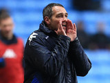 Portsmouth's caretaker manager Guy Whittingham instructs his team on November 24, 2012