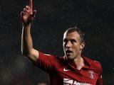 Charlton's Rob Hulse celebrates his opener against Huddersfield on November 24, 2012