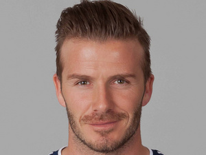 David Beckham on February 27, 2012