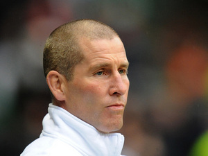 England's coach Stuart Lancaster during the match against South Africa on November 24, 2012
