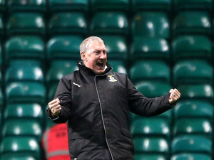 Inverness Caledonian Thistle's manager Terry Butcher celebrates his team's win against Celtic on November 24, 2012