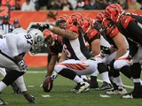 The Cincinnati Bengals line up against the Oakland Raiders on November 25, 2012