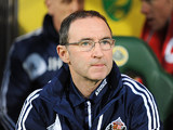 Sunderland manager Martin O'Neill on the touchline during the match against Norwich City on December 2, 2012