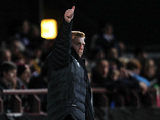 Neil Lennon on the touchline during the match against Hearts on November 28, 2012
