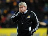 Steve Bruce eats the palm of his hand on November 27, 2012