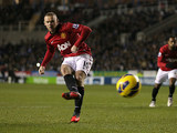 Wayne Rooney strikes again to score his second goal of the match against Reading on December 1, 2012