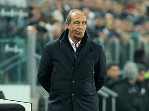Torino coach Giampiero Ventura on the touchline during the match against Juventus on December 1, 2012