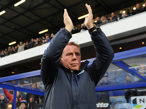 New Queens Park Rangers manager Harry Redknapp takes the applause from home fans on December 1, 2012