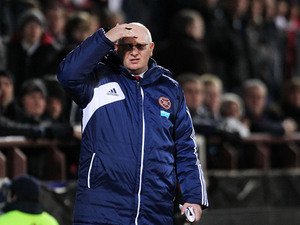 Hearts manager John McGlynn during the match against Celtic on November 28, 2012