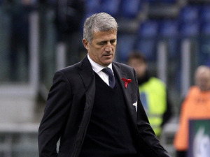 Lazio coach Vladimir Petkovic on the touchline on December 2, 2012