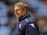 Walsall manager Dean Smith during the match against Coventry City on December 8, 2012