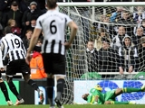 Newcastle United's Demba Ba scores from a penalty on December 3, 2012