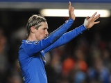 Chelsea striker Fernando Torres celebrates a goal against Nordsjaelland on December 5, 2012