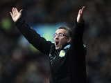 Villa boss Paul Lambert appeals during the game with Stoke on December 8, 2012