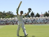 Australia's Ricky Ponting walks off the pitch for the last time on December 3, 2012