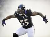 Baltimore Ravens' Terrell Suggs roars on December 2, 2012