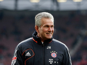 Bayern Munich head coach Jupp Heynckes during the match against Augsburg on December 8, 2012