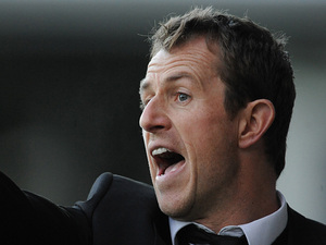 Burton Albion manager Gary Rowett during the match against Accrington Stanley on December 9, 2012