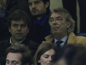 Inter president Massimo Moratti in the stands on March 13, 2012