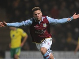 Andreas Weimann celebrates a goal against Norwich on December 11, 2012