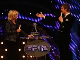 Bradley Wiggins talks to host Sue Barker at Sports Personality of the Year on December 16, 2012