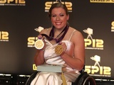 GB Paralympic athlete Hannah Cockroft arrives for Sports Personality of the Year on December 16, 2012