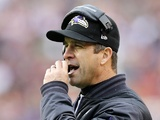 Ravens head coach John Harbaugh on the sideline against Washington on December 11, 2012