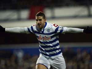 QPR's Adel Taarabt celebrates his second goal against Fulham on December 15, 2012