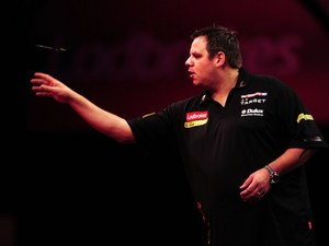Adrian Lewis at the World Darts Championship on December 14, 2012
