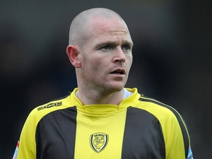 Burton Albion's John McGrath on January 29, 2012