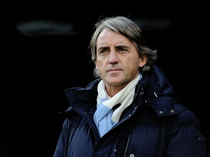 Man City boss Roberto Mancini against Newcastle on December 15, 2012