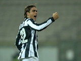 Juventus' Alessandro Matri celebrates a goal against Cagliari on December 21, 2012